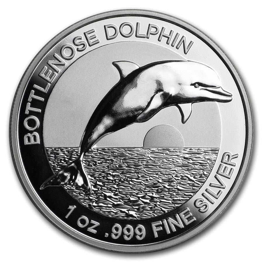 2019 Australia 1 Ounce Bottlenose Dolphin High Relief .999 Silver Proof Coin