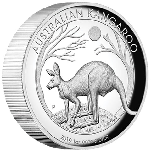 2019 Kangaroo High Relief Silver Proof Coin