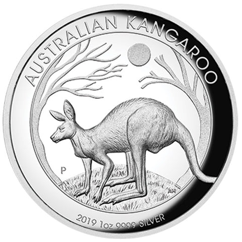 2019 Australia Kangaroo High Relief Silver Proof Coin