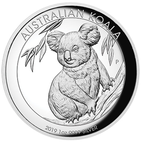 2019 Australia 1 Ounce Koala High Relief Silver Proof Coin