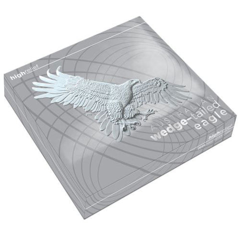 10 Ounce Wedge-Tailed Eagle High Relief Silver Proof Coin