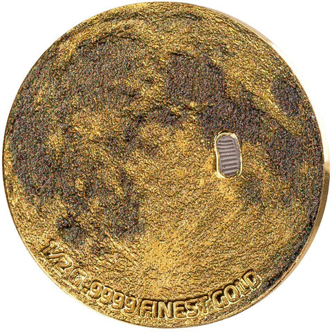 2019 Barbados .5 Gram Moon Landing Gold Proof Coin