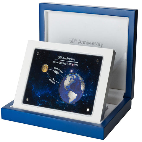 2019 Barbados 50 Year Anniversary Moon Landing 2 Coin Collection