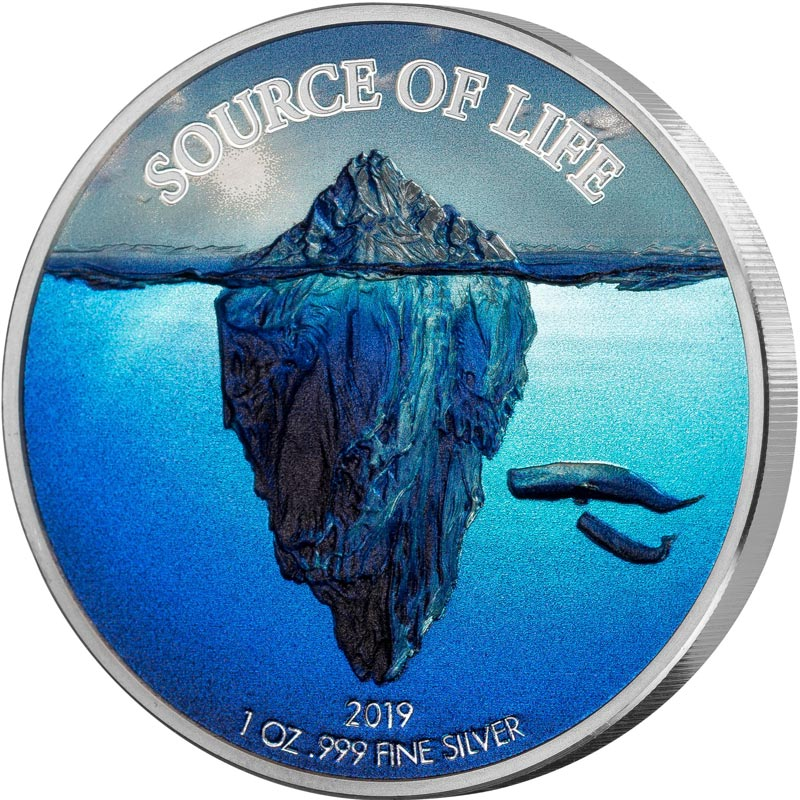 2019 Benin Source of Life Water Silver Coin