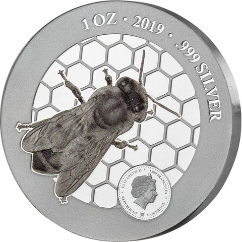 2019 Honey Bees Silver Coin