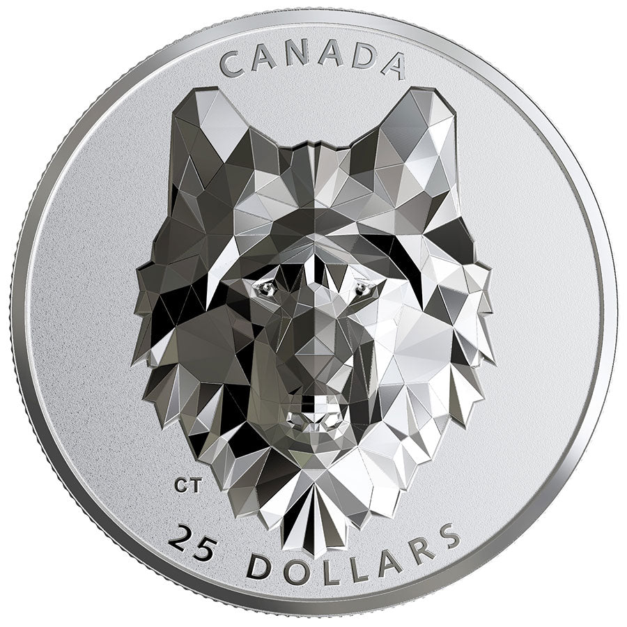 2019 Multifaceted Wolf Silver Proof Coin