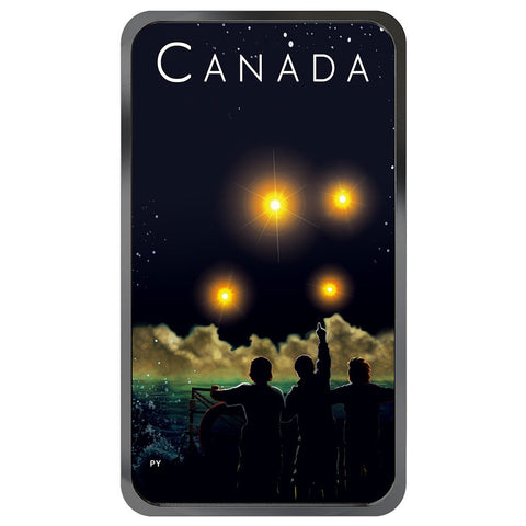 2019 Canada 1 Ounce Unexplained Phenomena Shag Harbour Glow in the Dark Silver Coin