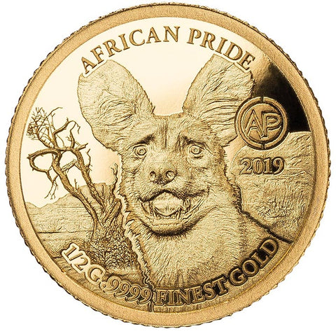2019 African Pride 13 Nation 13 X 1/2 Gram .9999 Gold Proof Coin Collection