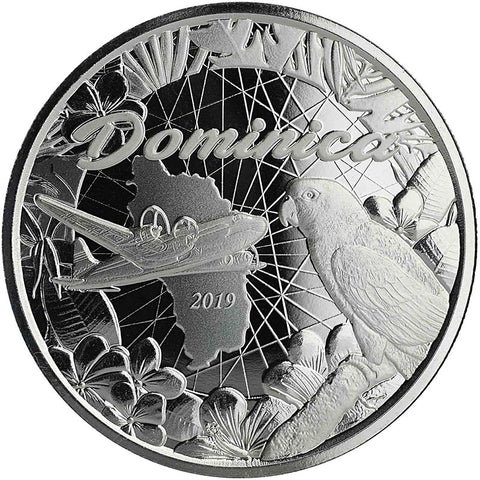 "2019 Dominica 1 Ounce Isle of Nature ""Parrot"" .999 BU Silver Coin"