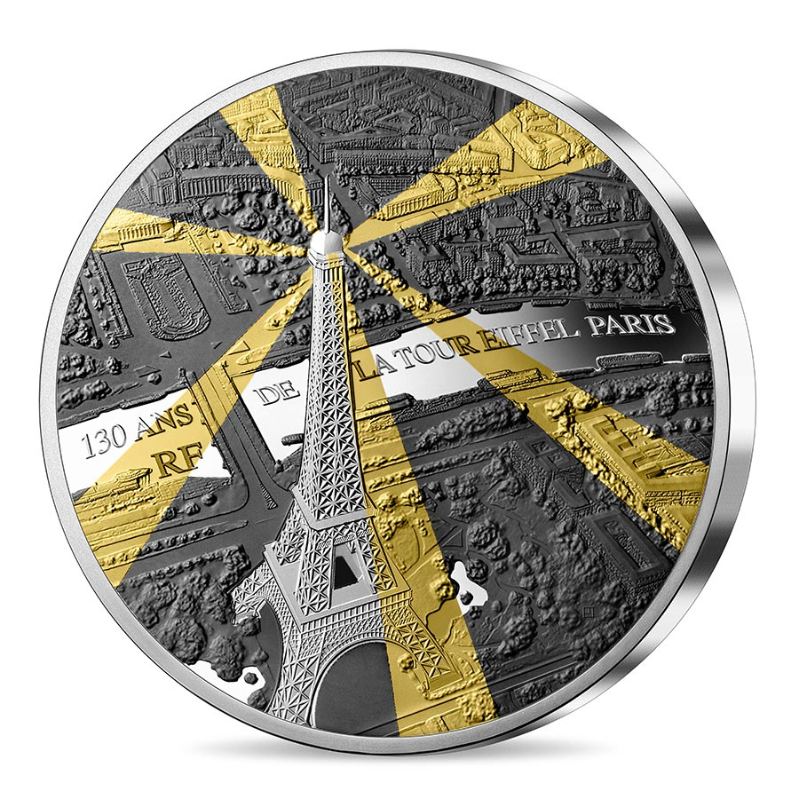 2019 France 1 Kilo Eiffel Tower 130th Anniversary Tresor de Paris Silver Proof Coin