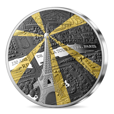 2019 Eiffel Tower 130th Anniversary Tresor de Paris Silver Proof Coin