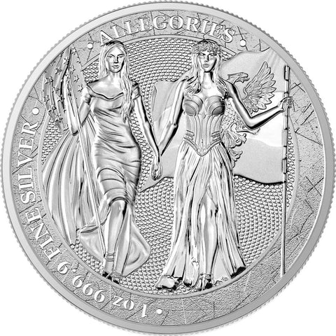 2019 Germania Mint 1 Ounce WMF 2020 Allegories 5 Marks .9999 Silver Round