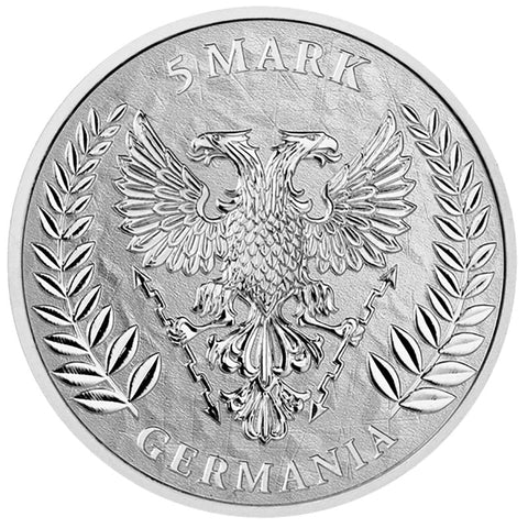 2019 Germania Mint 1 Ounce WMF 2020 Germania 5 Marks Silver Round