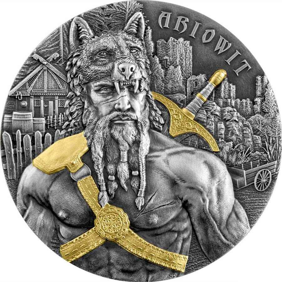 2020 Germania 2 Ounce The Warriors Ariowit 10 Marks High Relief Silver Round