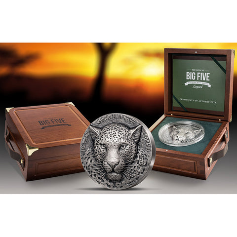 2019 Ultra High Relief Leopard Silver Coin