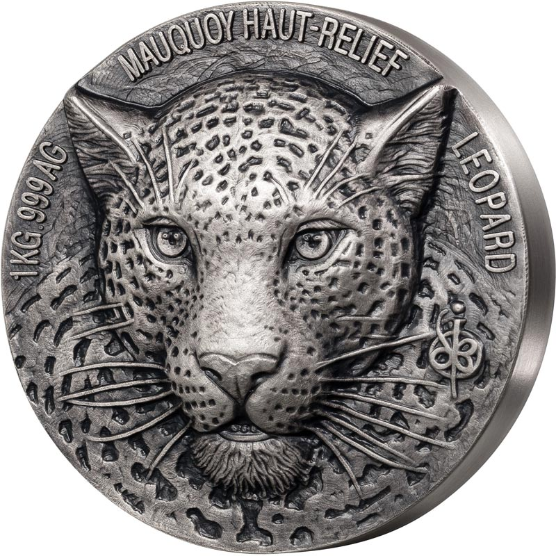 2019 African Big 5 Leopard Mauquoy Mint Silver Coin