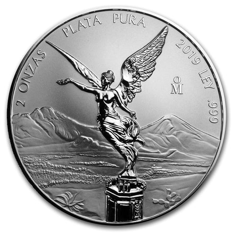 2019 Mexico 2 Ounce Libertad Reverse Proof .999 Silver Coin