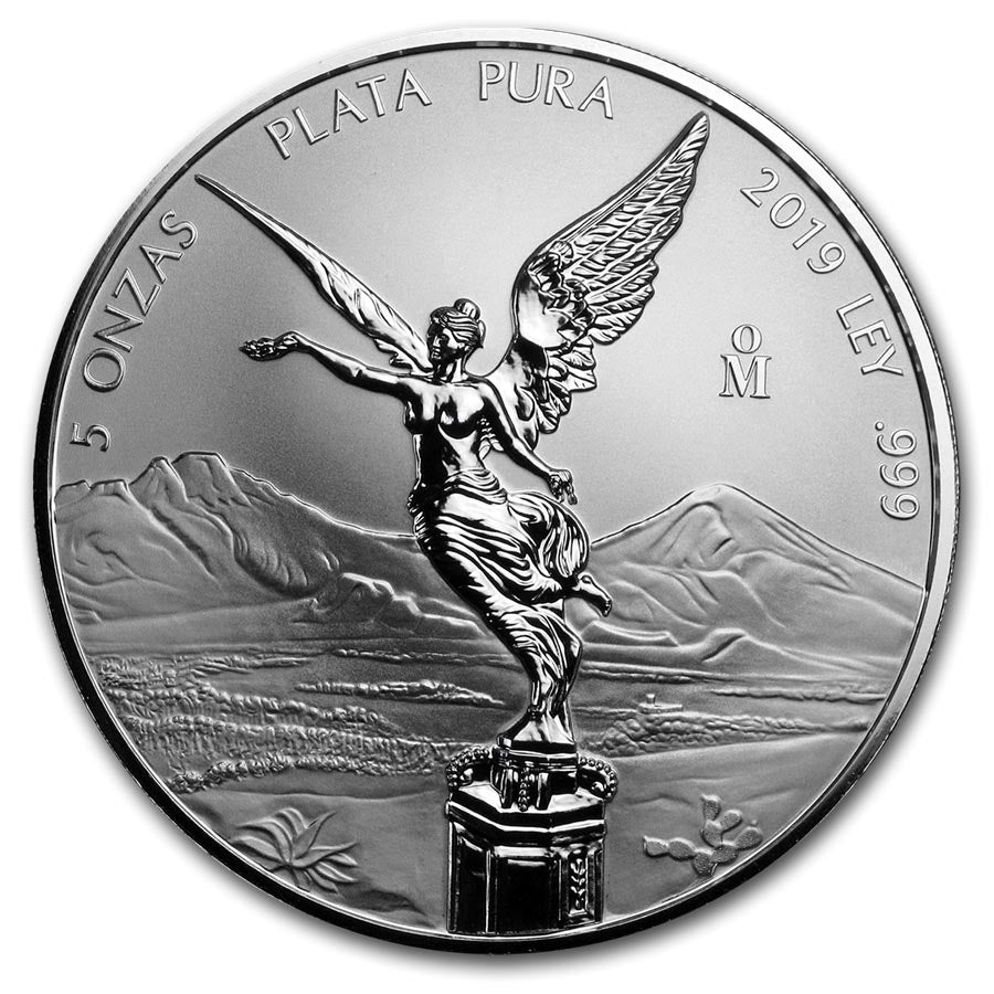 2019 Mexico 5 Ounce Libertad Reverse Proof .999 Silver Coin