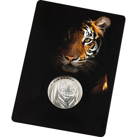 2019 Mongolia 1/2 Ounce Hidden Tiger Silver Proof Coin