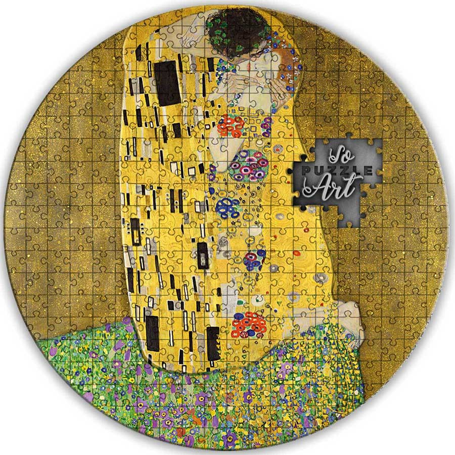 2020 Cameroon 3 Ounce Gustav Klimt - The Kiss Puzzle Art Silver Coin