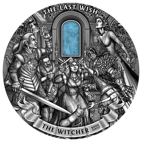 2019 Niue 1 Kilogram Witcher The Last Wish High Relief Antique Finish Silver Coin