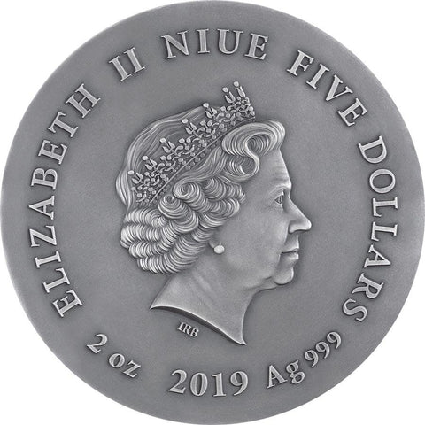 2019 Niue Long Eared Owl Silver Coin