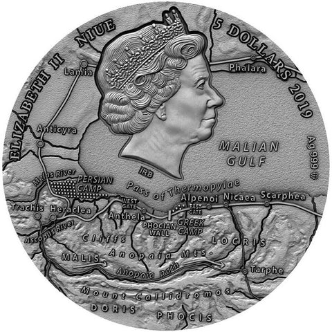 2019 Niue Leonidas High Relief Silver Coin