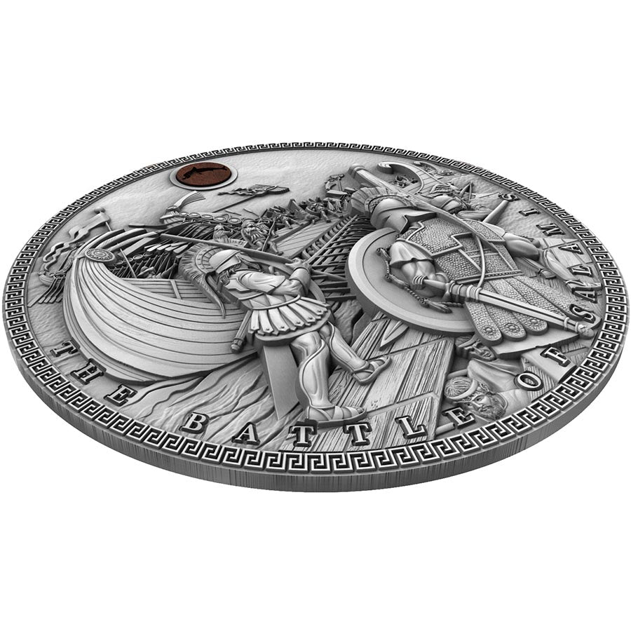 THE BATTLE OF SALAMIS SEA BATTLES 2019 2 oz High Relief Pure Silver Coin NIUE