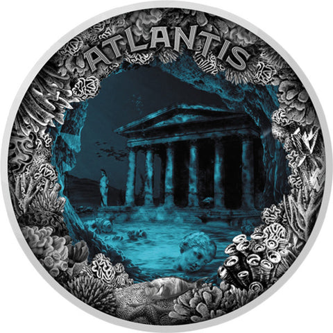 2019 Atlantis Sunken City Silver Coin