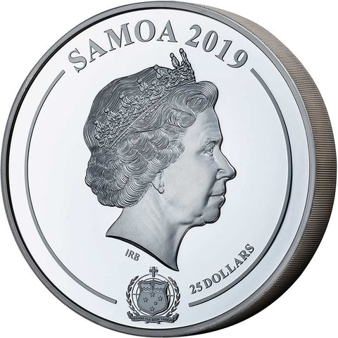 2019 Samoa 1 Kilogram Grace Kelly Shadow Minting Silver Coin
