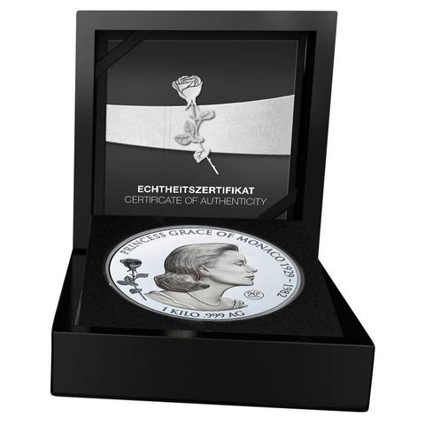 2019 Samoa 1 Kilo Grace Kelly of Monaco Commemorative Silver Coin