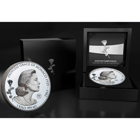 Samoa 1 Kilo Grace Kelly Shadow Minting Silver Coin