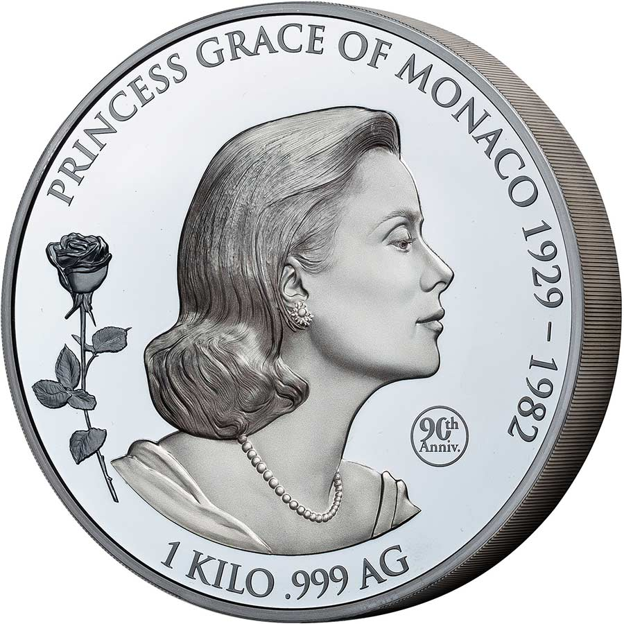 2019 Samoa 1 Kilogram Grace Kelly Shadow Minting Commemorative Silver Coin