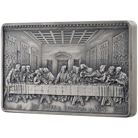 2019 Samoa 1 Kilogram Last Supper - Leonardo Da Vinci Antique Finish Silver Coin