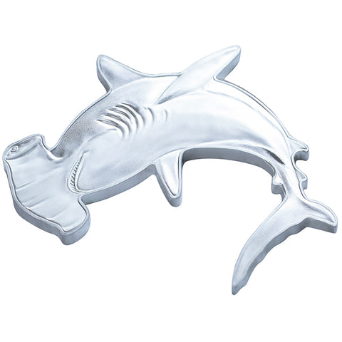 2020 Solomon Islands 1 Ounce Hunters of the Deep Hammerhead Shark Silver Coin