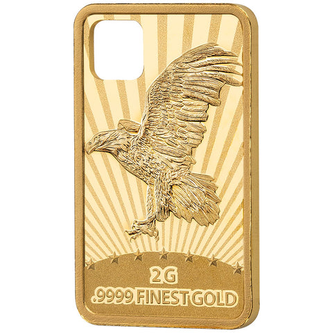 2019 Solomon Islands 2 Gram .9999 Eagle Gold Coin Pendant