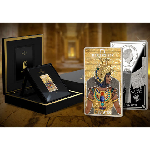 2019 Solomon Islands 200 Gram Silver & 12 Gram Gold Masterpieces of Art Cleopatra Coin Set