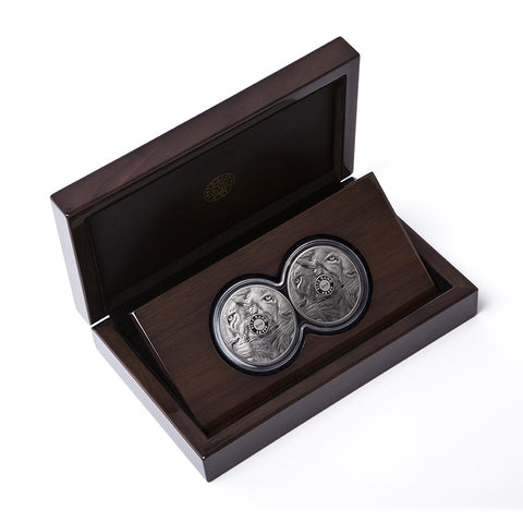 2019 South Africa Double Capsule Lion .999 Silver Proof Set