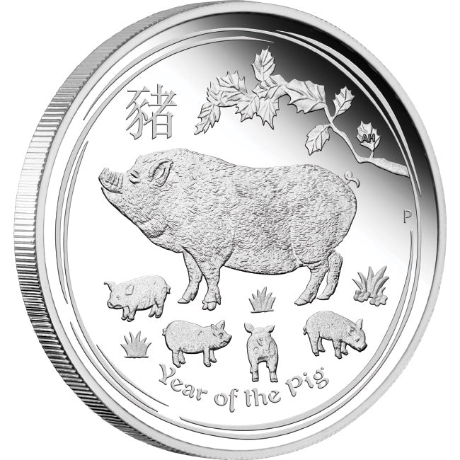 2019 Australia 1 Ounce Lunar Year Of The Pig Silver Proof Coin