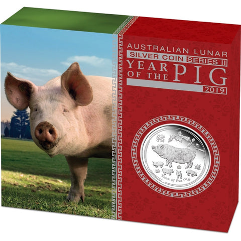 2019 Year Of The Pig Silver Proof Coin