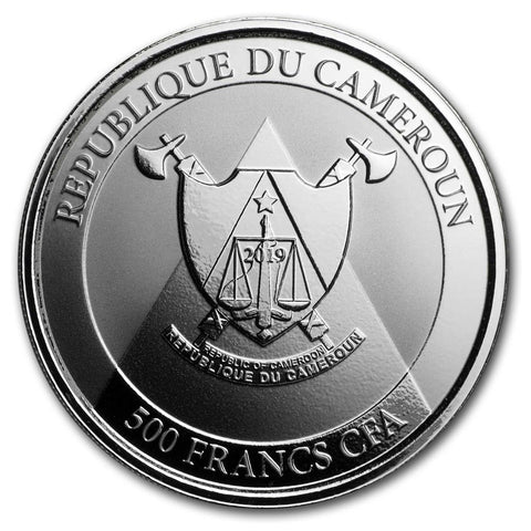 2019 Cameroon 1 Ounce Cheetah Proof-Like Silver Coin