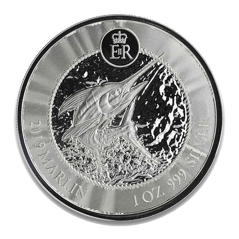 2019 Cayman Islands 1 Ounce Marlin BU Silver Coin
