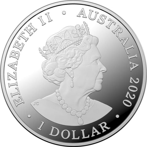 2020 Kangaroos at Dawn Silver Coin