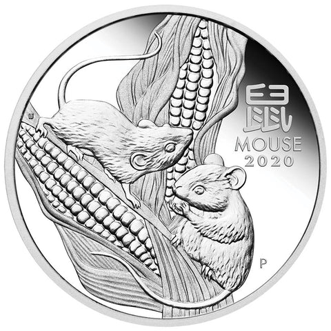 2020 Australia Trio Lunar Year of the Mouse Proof Silver Coin