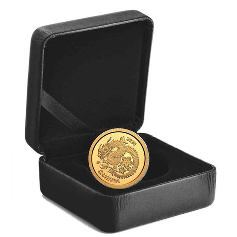 2020 Canada 1 Gram Lucky Flower Dragon .9999 Gold Proof Coin