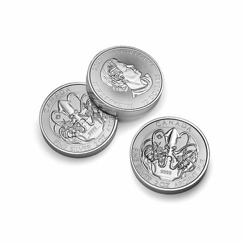 2020 RCM 2 Ounce Kraken Creatures of the North .9999 Silver Coin