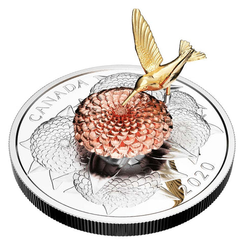The Hummingbird & the Bloom Silver Proof Coin
