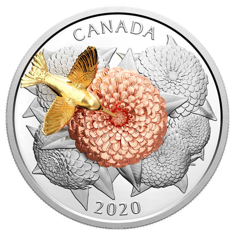 2020 Canada The Hummingbird & the Bloom Silver Proof Coin