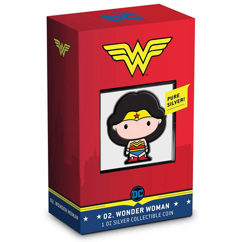 2020 Chibi Wonder Woman - DC Comics Series Color Silver Proof Coin