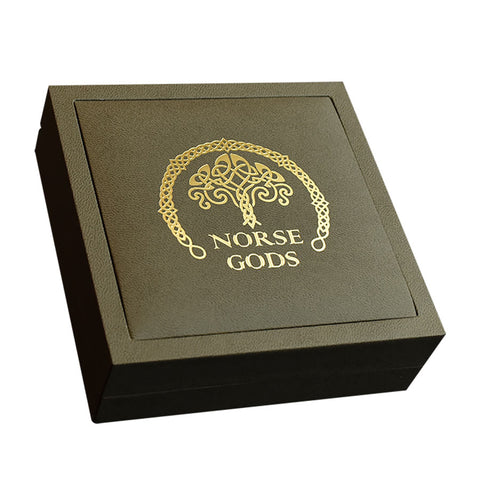 2020 Norse Gods Thor High Relief Gold Plated Antique Finish Silver Coin